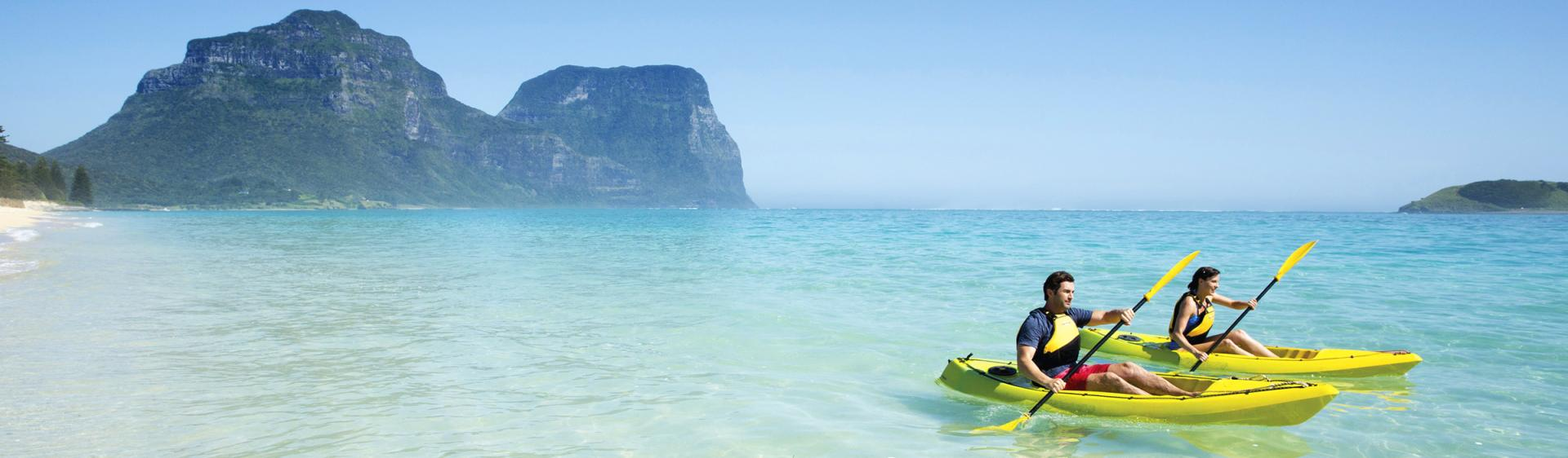 Kayaking on Lord Howe Island